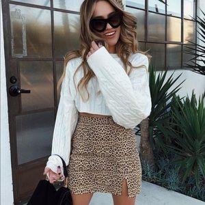 NWT Verge Girl Leopard Skirt